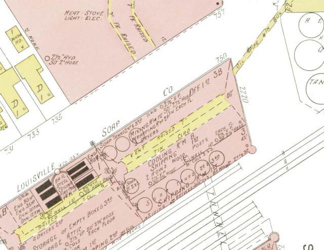 Louisville Soap Company / Van Camp Building in 1890. (Via KYVL)