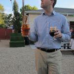 Eric Brown enjoys a beverage at the Park(ing) Day after party. (Mary Beth Brown)