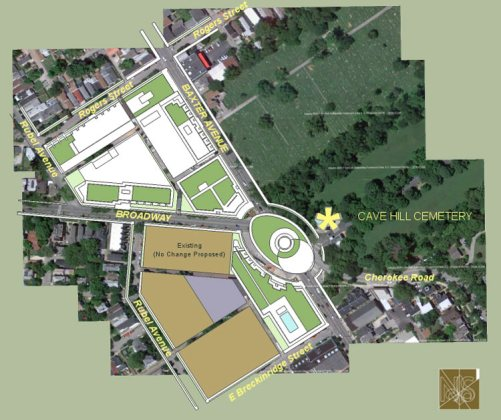 A proposed roundabout at Baxter Ave. and Broadway. (Courtesy Nicholas Seivers)