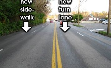 Planned changes for the Brownsboro Road Diet. (Courtesy CART)