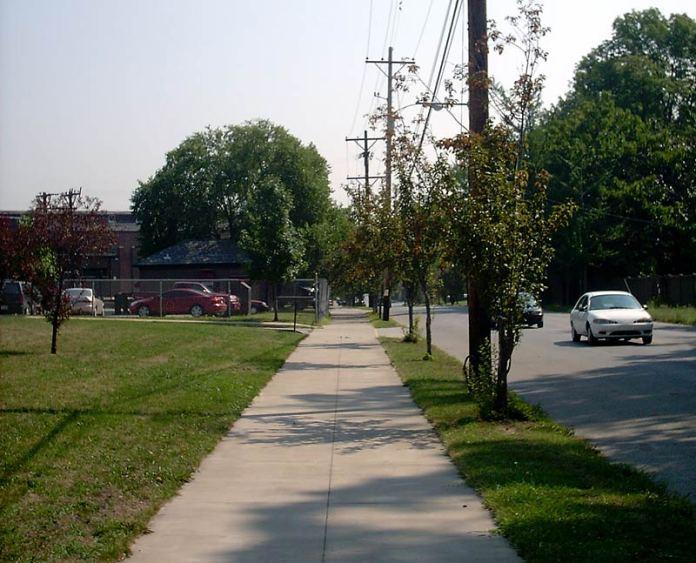 A sidewalk in Louisville. (Branden Klayko)