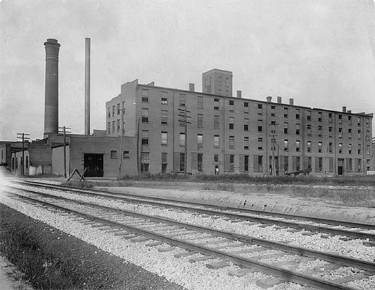 A historic view of the warehouses. (Courtesy Haven Harrington)
