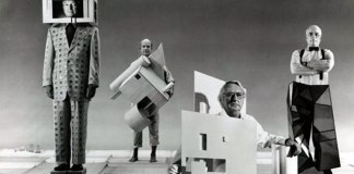 Architect Michael Graves (far left) wears his Humana Building. (Courtesy Fantastic Journal)