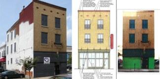 Building under renovation on Fifth Street. (Branden Klayko/Courtesy Downtown Bound)