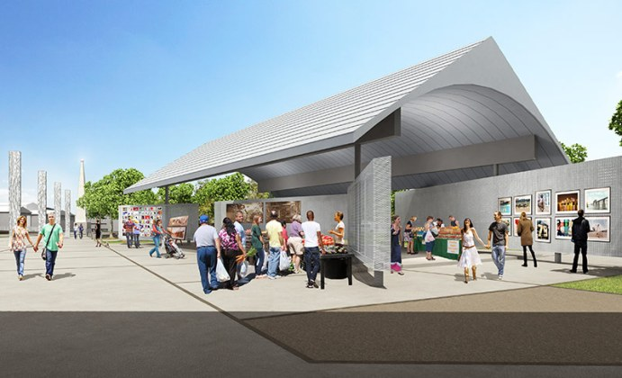 Farmers market pavilion at Big Four Station. (Courtest the Estopinal Group)