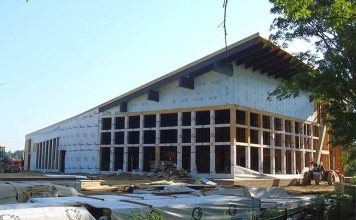 The Gheens Pavilion under construction. (Courtesy Parklands)