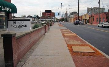 New sidewalks on Oak Street. (Branden Klayko / Broken Sidewalk)
