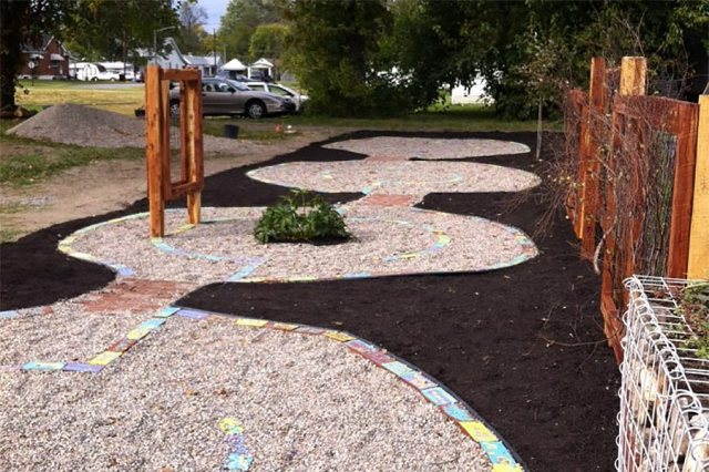 The completed Peace Labyrinth. (Courtesy Ramona Lindsey)
