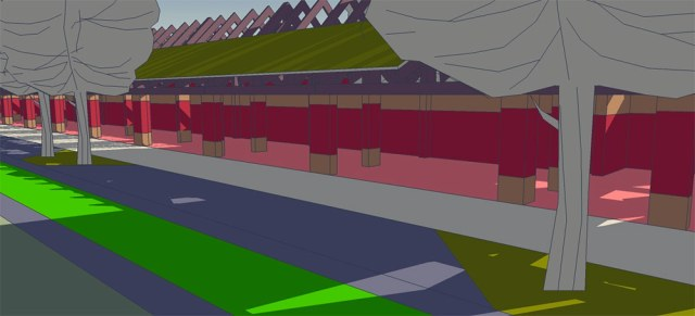 Rendering for the proposed arcade at the Logan Street CSO Basin. (Courtesy Urban Composition)