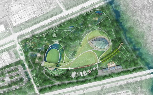 Site plan for the Waterfront Botanical Gardens. (Courtesy Botanica)