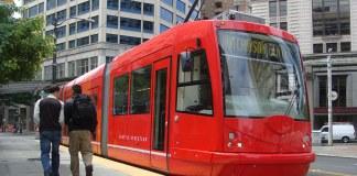 The Seattle streetcar. (Courtesy SDOT)