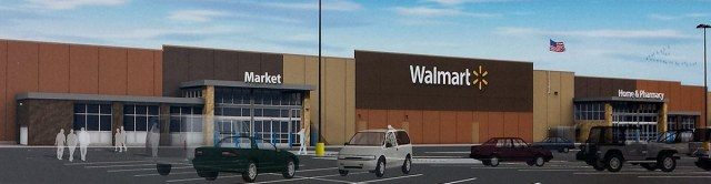 Rendering of the West End Walmart. (Courtesy Walmart)