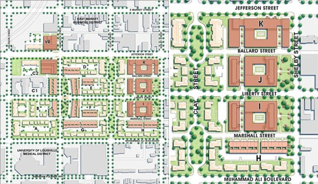 The Liberty Green master plan, showing future development sites to the east. (Courtesy LMHA)