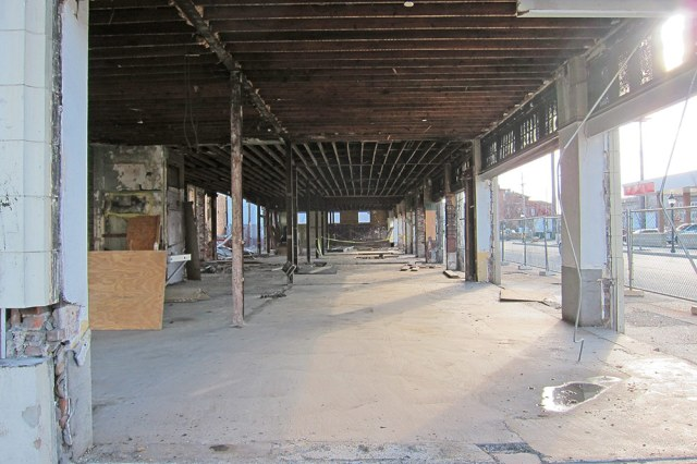 Inside the renovation. (Branden Klayko / Broken Sidewalk)