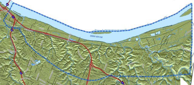 Bounds of the Louisville Loop study area. (Courtesy Louisville Loop)