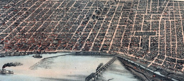 A map of Louisville from 1883. (Courtesy KY Heritage Council)