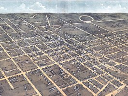 Aerial view of Lexington in 1871.