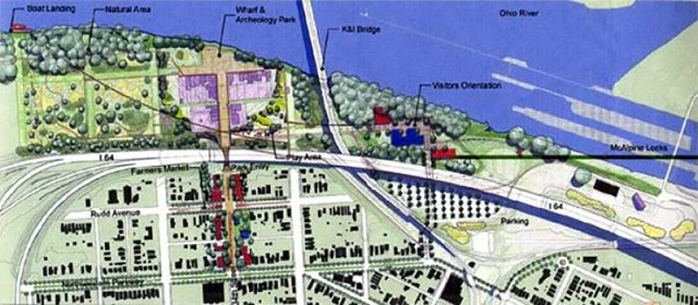 Master plan for the Portland Wharf Park.