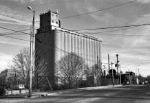 Concrete silos on Barret Avenue. (Patrick Piuma)