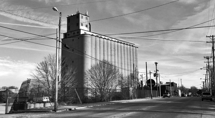 Concrete silos on Barret Avenue. (Patrick Piuma)