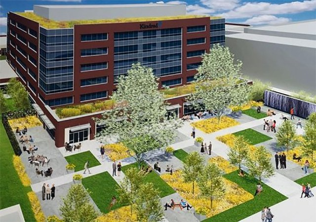 Rendering of the new Kindred building. (Courtesy Kindred)
