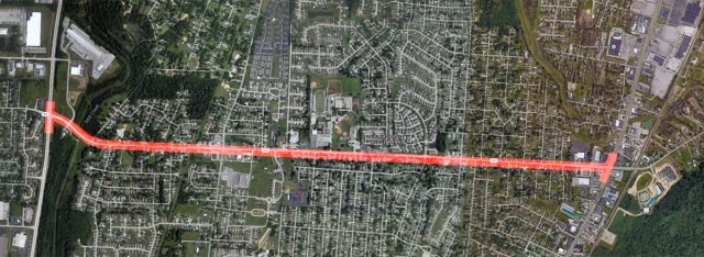 A portion of Greenwood Road to be widened by KYTC at a cost of $21 million. (Courtesy Google)