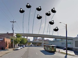 """Louisville should look beyond just the """"physical"""" barriers of the Ninth Street Divide. (Courtesy Google / Montage by Broken Sidewalk)"""