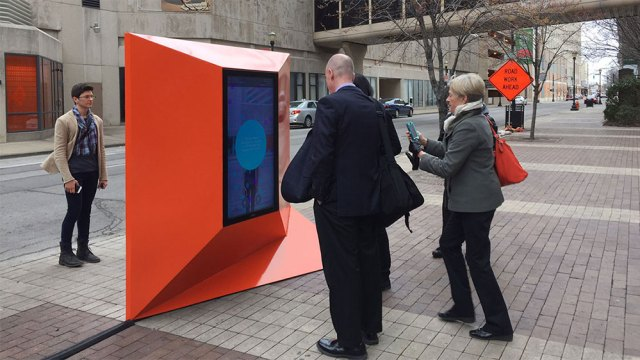 The AirBare installation up and running in Downtown Louisville. (Courtesy Urban Matter Inc.)