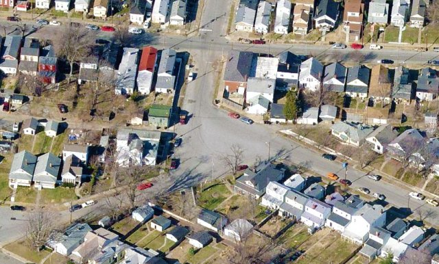 The intersection before the intervention. (Courtesy Bing)
