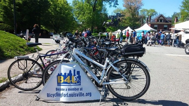 Among the many activities Bicycling for Louisville is involved with, free bike parking at the city's major events is one of the most visible. (Courtesy B4L)