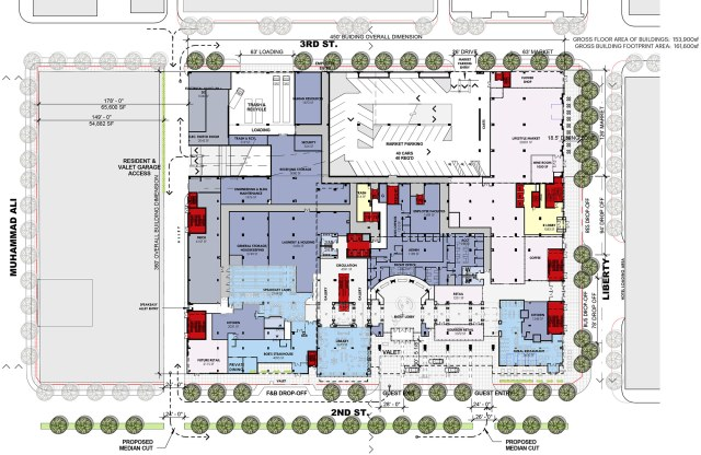 Here's the ground floor plan again so you can follow along. (Courtesy HKS)