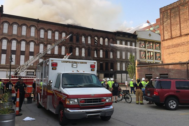 A scene from the recent Whiskey Row Fire. (Courtesy tipster)
