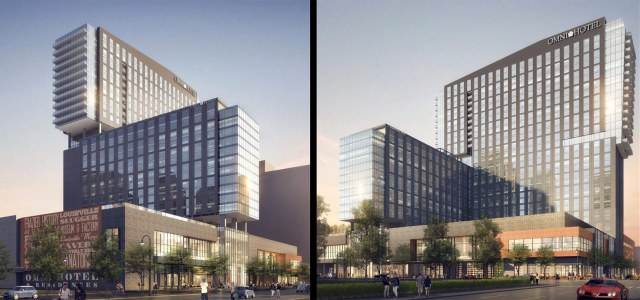 Renderings of the Omni. (Courtesy HKS)