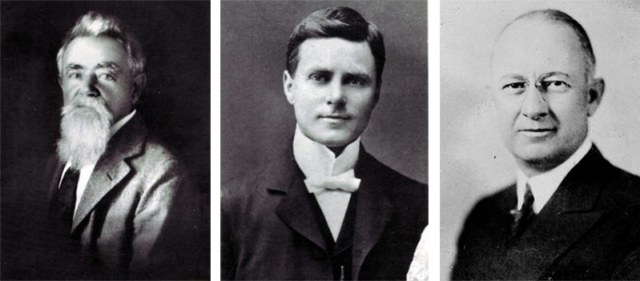 Left to right: Johann Friederich Hillerich; John Andrew 'Bud' Hillerich; and Frank Bradsby.