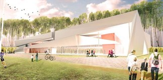 An updated design for the South Central Regional Library. (Courtesy LFPL)