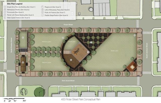 A proposal for Louisville Slugger Park. (Courtesy UDS)