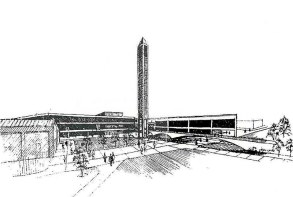 A rendering of the original SAC from the mid-'80s. (Courtesy U of L)