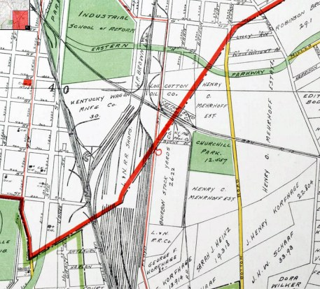 A map of the area in 1913. (Courtesy UL Archives)