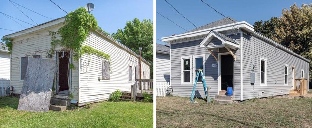 Before and after on the 1800 block of Bank Street. (Courtesy PII)