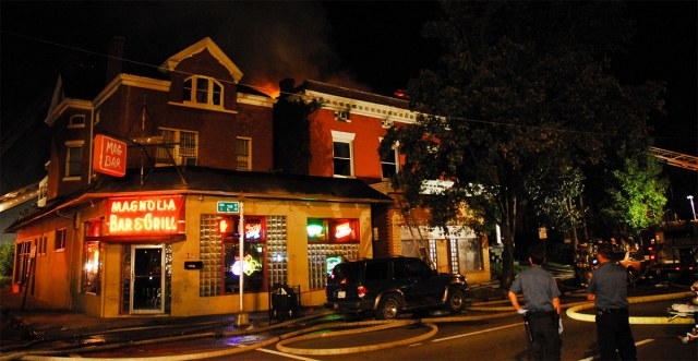 The night of the deadly fire on September 2, 2009. (Courtesy Louisville Cardinal)