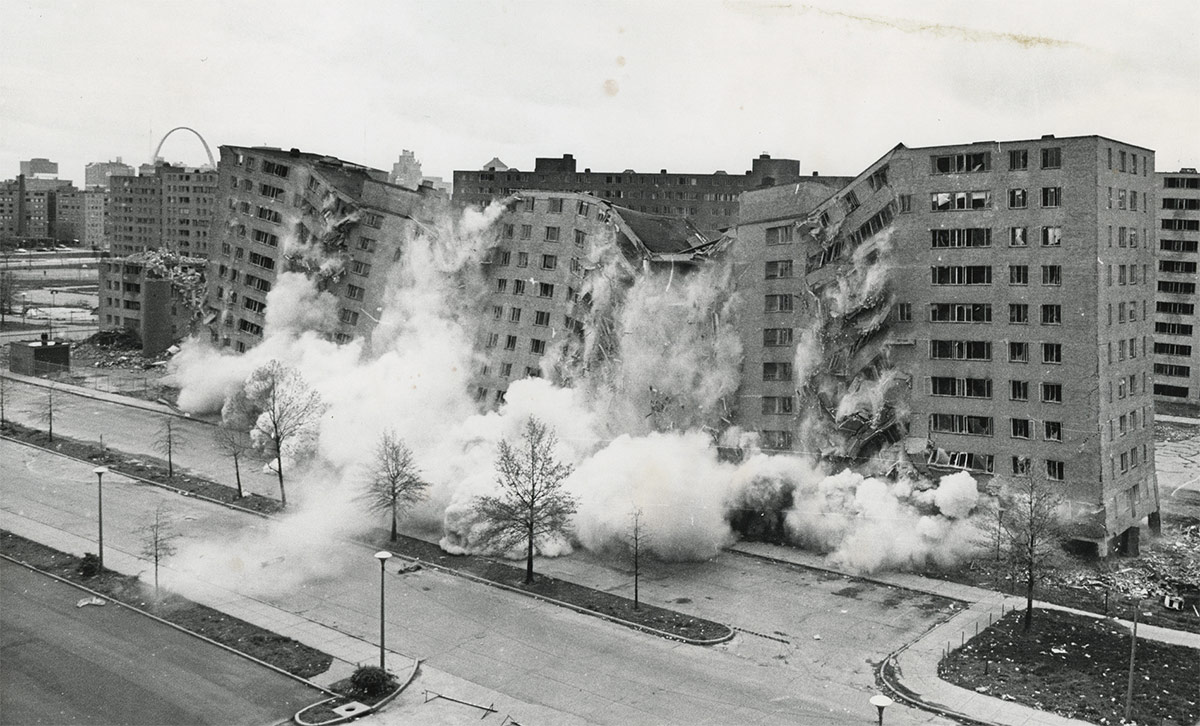 what urbanists can learn from wendell berry the demolition of the pruitt igoe complex in 1972 courtesy hud