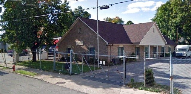 The building today sits behind chain link and barbed wire. (Courtesy Google)