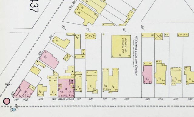A map of the area in 1905. (Courtesy KYVL)