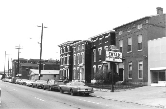 Looking west on Breckinridge Street in the early '80s. (Courtesy National Register)