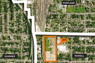 The FoodPort's site at the confluence of three neighborhoods. (Courtesy Seed Capital KY)