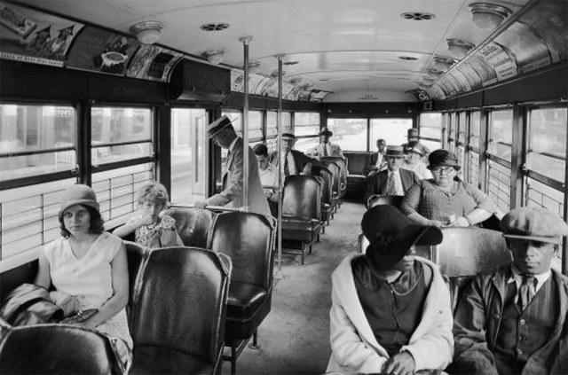 Inside a Louisville streetcar in 1929. (Courtesy UL Archives - Reference)