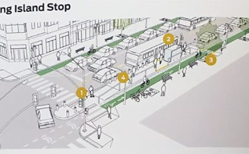Images from an uncorrected proof of NACTO's forthcoming Transit Street Design Guide. Used with permission. (Courtesy PeopleForBikes / NACTO)