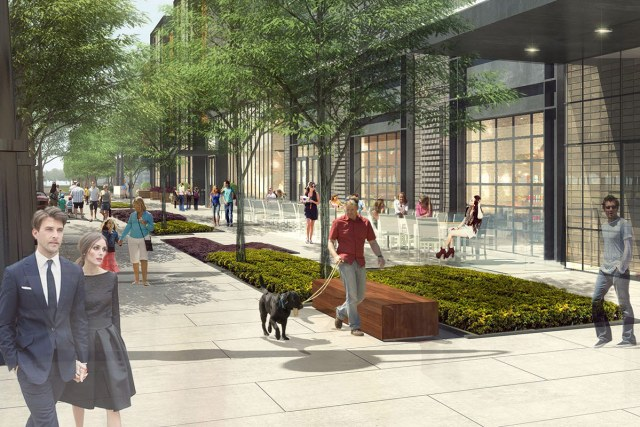 The redesigned Liberty Street. (Courtesy Omni)