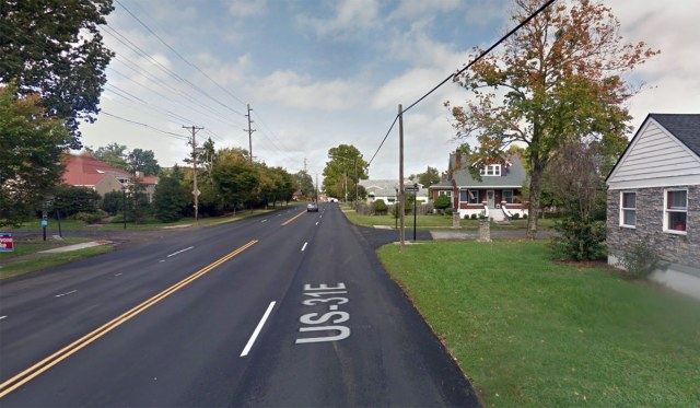 Looking north on Bardstown at Emerson Avenue. (Courtesy Google)