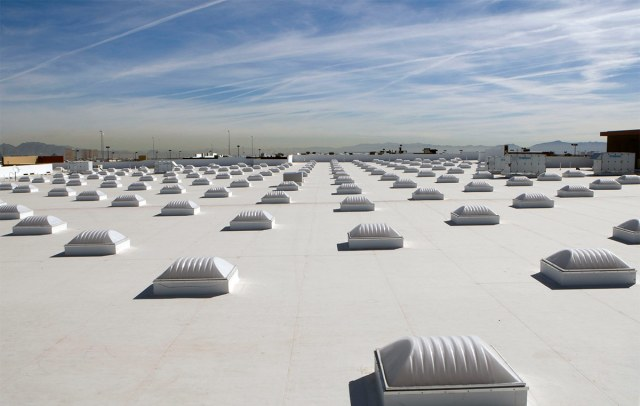 An example of a cool roof. (Walmart / Flickr)